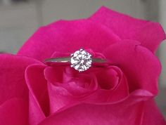 Tiffany & Co 0.37ct H/VVS1 Diamond Classic Solitaire 6 Prong Engagement Ring