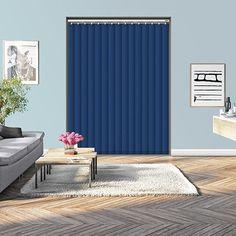 Controliss Oscuro Blue Majesty 240V AC mains RTS remote control electric vertical blind.  #HomeDecor #InteriorDesign #Decor #VerticalBlinds  #CreateYourHome #BudgetBlinds #WindowShades #Window  #Design #Blind #WindowCoverings #Windows #MadeinUK