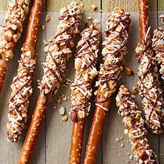 Triple-Treat Pretzel Wands From Better Homes and Gardens, ideas and improvement projects for your home and garden plus recipes and entertaining ideas.