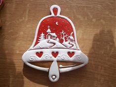 Červený medovníkový zvonček