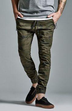 Bullhead Denim Co. Bullhead Denim Co. Camo Zip Slouched Skinny Jogger Pants