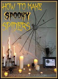 How to make spooky spiders for Halloween