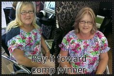 Check out our pay it forward winner before and after shots.