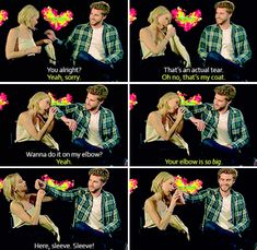 Liam lending Jennifer his shirt to wipe her eye. | 21 Times Jennifer Lawrence, Liam Hemsworth, And Josh Hutcherson Proved That True Love Does Exist