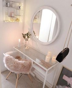 20 Best Makeup Vanities & Cases for Stylish Bedroom - Decor Dressing Table Organisation, Dressing Table Storage, Dressing Table With Chair, Dressing Tables, Small Dressing Table, Bedroom Dressing Table, Dressing Rooms, Dressing Room Decor, Makeup Dressing Table