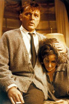 Elizabeth Taylor and Richard Burton in Who's Afraid of Virginia Woolf, 1966.