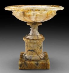 A 19th century  Derbyshire feldspar or Blue John  Pedestal Bowl