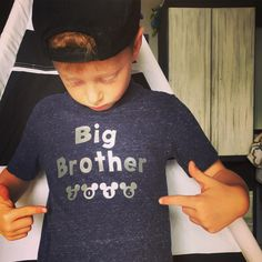 A personal favorite from my Etsy shop https://www.etsy.com/listing/485183411/big-brother-disney-vacation-shirts