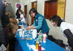 Dec 11 West Scotland branch volunteers doing chromatography with Skittles and making perfect poo at MoSSFest (Middle of Scotland Science festival) in Crianlarich. #science #volunteering #charity
