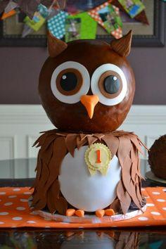 Owl Birthday Cake ~ too cute!