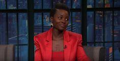 Lupita Nyong'o told Seth Meyers about being stood up at prom. Lupita Nyongo, Seth Meyers, Celebrity Women, Stand Up, Crushes, Prom, Shit Happens, Celebrities, Fashion