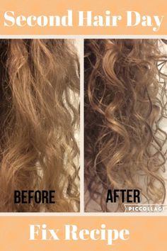 Second Hair Day Fix Recipe. Fix that frizzy second day curls! Here is a hair recipe to help the mayhem!