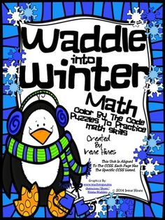 Waddle Into Winter ~ Penguin Math Printables Color By The Code Puzzles~This Color By Number Unit Is Aligned To The CCSS. Each Page Has The Specific CCSS Listed.~This set includes 4 math puzzles:Two puzzles with following addition skills mixed on each puzzle:   ~ 2 Digit Addition Without Regrouping   ~ Basic Addition Facts   ~ 3 Addend AdditionTwo puzzles with following subtraction skills mixed on each puzzle:   ~ 2 Digit Subtracting Without Regrouping   ~ Basic Subtraction FactsDetails Of…