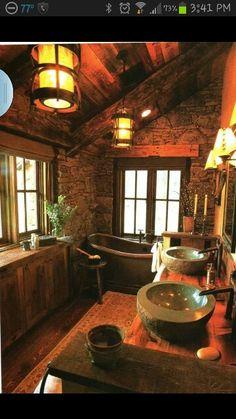 Beau Awesome Bathroom · Log Cabin ...