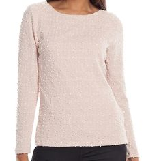 Jennifer Lopez Boucle Bar-Back Top Jennifer Lopez Boucle Bar-Back Top, Women's size small. Color is Pink! The image in white is just to display the chiffon bar back of the top. This is beautiful!! Just a bit too small on me. Jennifer Lopez Tops Blouses