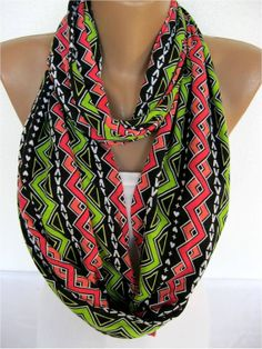 ON SALE  Multicolor Scarf Infinity Scarf Shawl by SmyrnaShop, $12.90