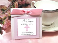 Baptism Christening Gifts Photo Party Tea Favors