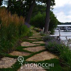 Visit the post for more. Landscape Architecture, Landscape Design, Garden Design, Lake Geneva, Lake Life, Horticulture, Perennials, Natural Stones, Paths
