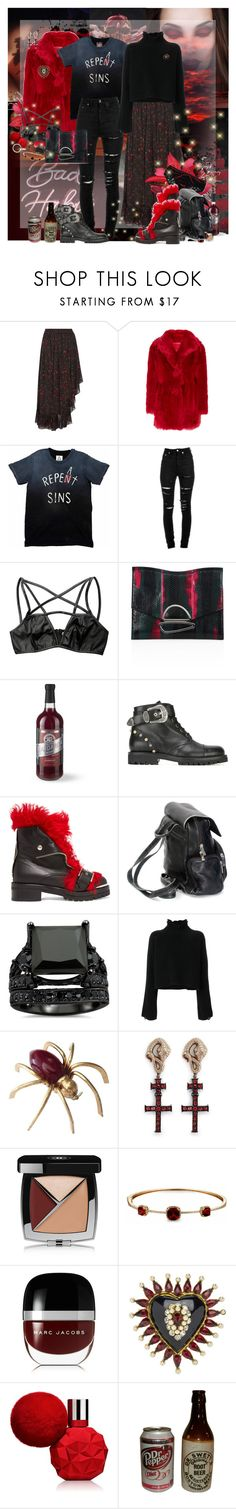 """Dark Accent"" by lady-redrise ❤ liked on Polyvore featuring IRO, Prada, Yves Saint Laurent, Proenza Schouler, Williams-Sonoma, FAUSTO PUGLISI, Alexander McQueen, Golden Goose, Delfina Delettrez and Chanel"