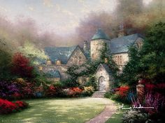 Thomas Kinkade - Beyond Autumn Gate  1993