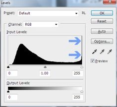 Levels in Photoshop: Using the Dropper Tool