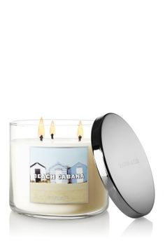 NEW Beach Cabana 3-Wick Candle – sweet jasmine, orange blossom and a hint of musk ♥   #LUVBBW