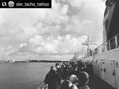 #Repost @der_lachs_tattoo  Eine Seefahrt die ist schön  #Derlachs #Hertha #1982 #scandline #ship #danmark #brønby