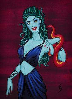 What's the perfect alternative to blowing all your savings in the shops this Christmas? Draw what you want instead! Little Engine That Could, Medusa Gorgon, Turn To Stone, Rp Ideas, Goddess Art, Beautiful Goddess, Greek Mythology, Folklore, Art Sketches