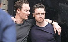 What's he saying to James McAvoy?
