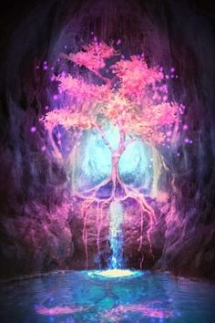 Lilia Osipova deviantart photo manipulations photoshop illustrations fantasy surreal psychedelic Tree of light