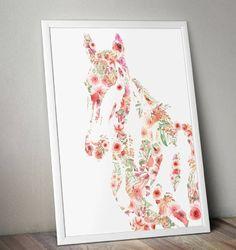 Création digitale, portrait d'une jument en fleurs Pastel, Creations, Portrait, Flowers, Paint, Drawing Drawing, Cake, Portrait Illustration, Crayon Art