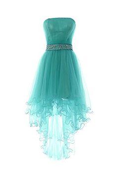 YiYaDawn Women's High-low Homecoming Dress Short Evening ...