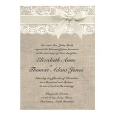Rustic Vintage Inspired Wedding Invitation I love it