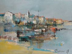 Branko Dimitrijevic, City View, Oil on canvas, 30x40cm