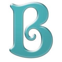 ♥♥♥♥♥♥♥♥ B-Cuz I Can ♥♥♥♥♥♥♥♥: Free Bright Teal Digi Scrapbook Alphabet