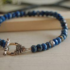 Lapis Lazuli Bracelet Dainty Bracelet Bali by LBlackbournJewelry, $42.00