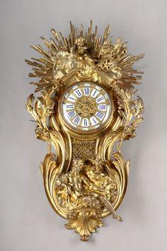 A 19th C. French Ormolu Bronze Cartel / Wall Clock.