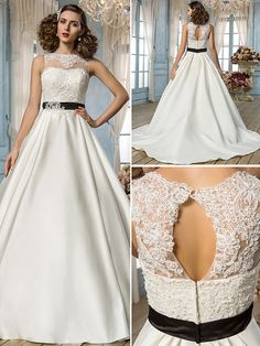 Lanting Bride® A-line / Princess Petite / Plus Sizes Wedding Dress - Classic & Timeless / Elegant & Luxurious Open Back Floor-length Jewel - GBP £123.19 ! HOT Product! A hot product at an incredible low price is now on sale! Come check it out along with other items like this. Get great discounts, earn Rewards and much more each time you shop with us!