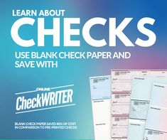 Checks Personal Business - Print Self on demand on any printer-save - I Think it`s very good, it`s excellent service, I recomend it Check Mail, Blank Check, Writing Software, Financial Organization, Write Online, Linux, Online Checks, Business Checks, Online Support