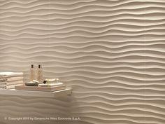 Rivestimento tridimensionale in ceramica a pasta bianca DUNE Collezione Rivestimenti in Pasta Bianca by Atlas Concorde