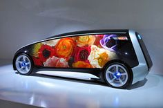 toyota future cars designs | Toyota Fun-VII Vehicle Concept: Flexible OLED For Changeable Body ...