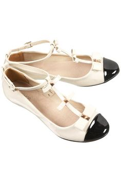 6ca4c30db5c6 MAGGIE Patent Bow T-bar Shoes