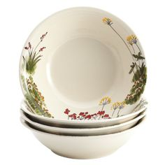 ad892dd18a674 Paula Deen Signature Dinnerware Southern Rooster 4-Piece Stoneware Soup and Pasta  Bowl Set