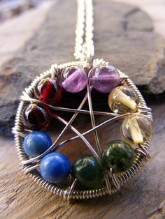✯ Element WireWrapped Pentacle .. By ~MoonLitCreations✯