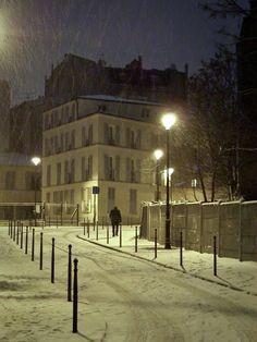 Paris Feb 1 2009 -Photograph 110523 by mark notari on Paris Snow, Nevada, I Love Paris, France Travel, Amazing Destinations, City Lights, Winter Time, Vacation Spots, Paris France