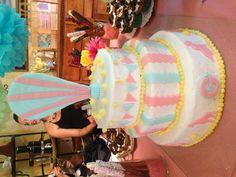 Vintage circus birthday cake Vintage Birthday Cakes, Circus Birthday, Vintage Circus, Party Time, Birthdays, Dreams, Eat, Board, Desserts