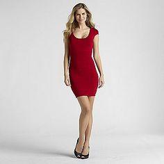 -Women's Ribbed Bandage Dress