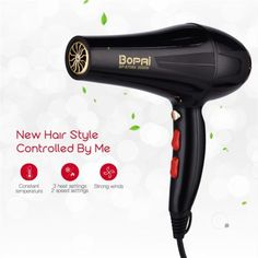 Professional Hair Dryer With Nozzle Super Power Hair Salon Styling Tools Hair Drier Hot Cold Air Speed Adjust Hair Blower Professional Hair Dryer, Professional Hairstyles, Hair Blower, Moisturize Hair, Styling Tools, Dry Hair, Plastic Models, Synthetic Hair, Super Powers