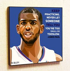 Chris Paul NBA Backetball Motivational Quotes Wall Decals Pop Art Gifts Portrait Framed Famous Paintings on Acrylic Canvas Poster Prints Artwork Geek Decor Wood * Details can be found by clicking on the image.