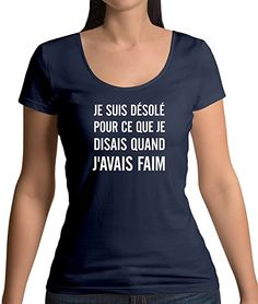 yonacrea T-Shirt Col V Adulte Je Peux Pas JAi Running